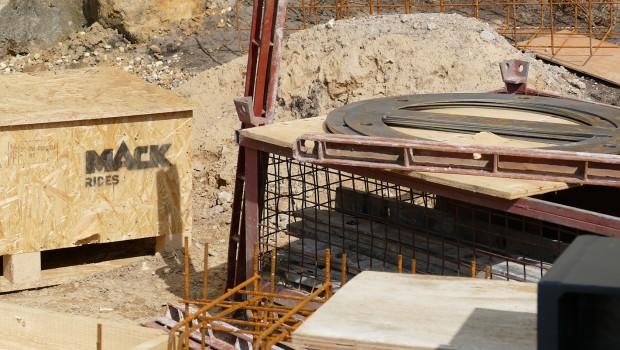 Movie Park 2017 - MACK Rides Achterbahn - Baustelle Box