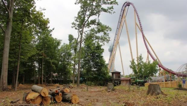 Mystic Timbers Baustelle im Juli 2016