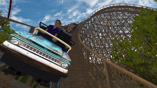 Mystic Timbers First Drop - Kings Island Animation