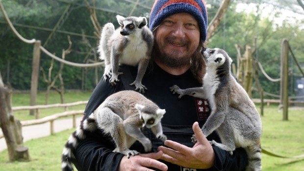 Peter Ludolf im Serengeti-Park mit Kattas