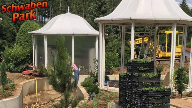 Schwaben-Park Märchenfahrt-Baustelle Bepflanzung