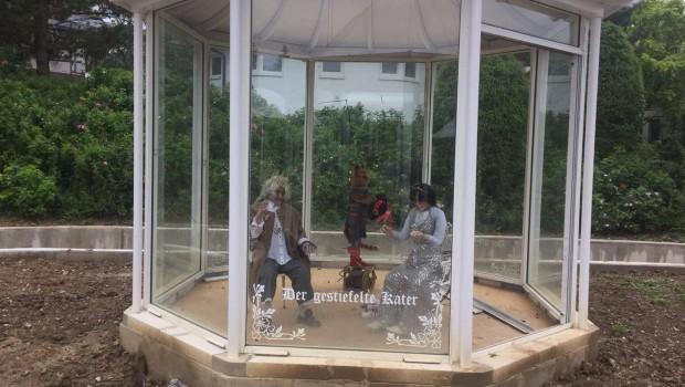 Schwaben-Park - Märchenfahrt-Baustelle - Der gestiefelte Kater
