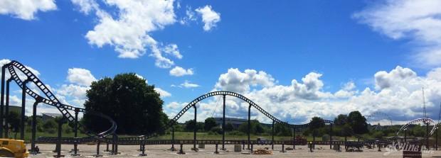 Sky Dragster Strecke - Baustelle im Skyline Park