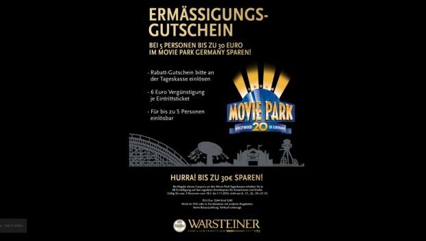 Warsteiner Movie Park-Gutschein 2016
