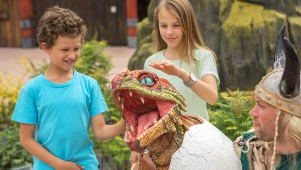Drachenähmen Drachen-Ei mit Wikinger im Heide Park