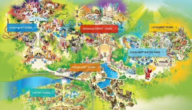 Dubai Parks and Resorts Karte