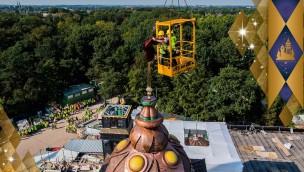 """""""Symbolica""""-Baustelle im Blick: Höchster Punkt der Efteling-Neuheit 2017 erreicht"""