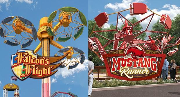 Falcon's Flight und Mustang Runner für 2017 in Worlds of Fun