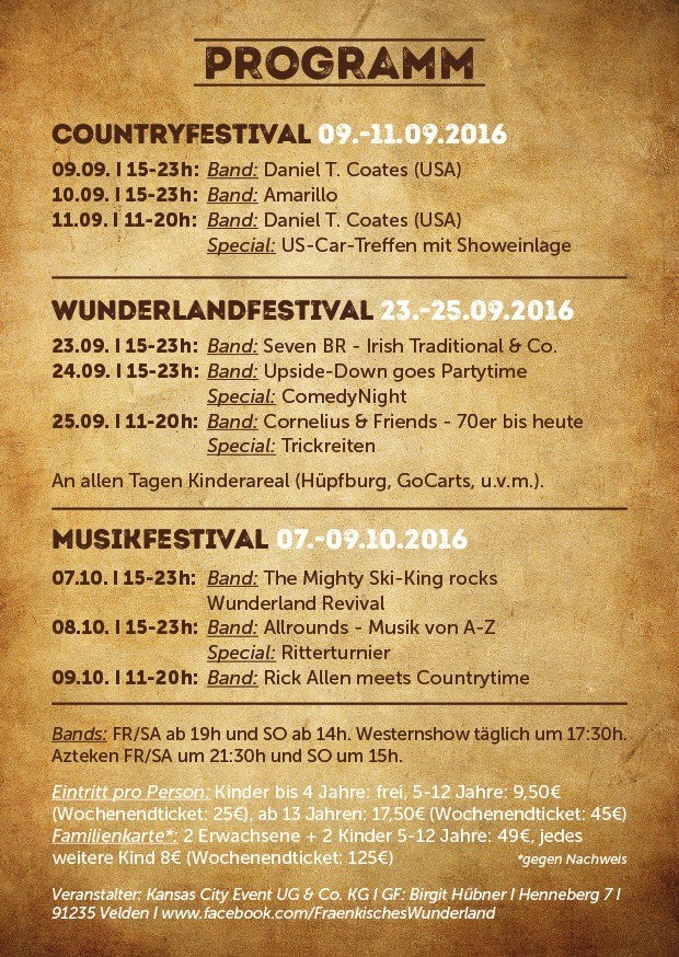 Fränkisches Wunderland Festivals