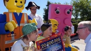 20-millionster Gast: Besucherzahlen im LEGOLAND Deutschland erreichen neuen Meilenstein