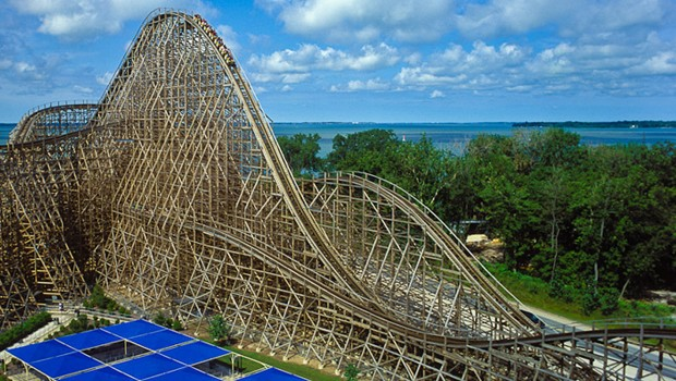 Mean Streak in Cedar Point - Panorama