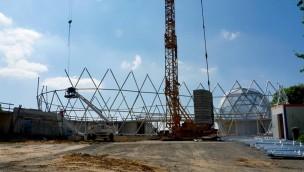 """""""Mitoseum""""-Baustelle im Blick: Neuer Eingangsbereich des Saurierpark Kleinwelka wächst"""