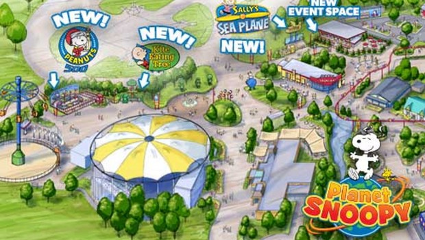 Planet Snoopy-Erweiterung in Kings Dominion 2017