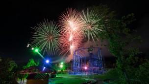Feuerwerk über dem Skyline Park