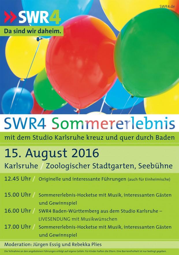 SWR4-Sommererlebnis im Zoo Karlsruhe 2016