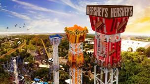 """Hersheypark sorgt mit Projekt """"Triple Tower"""" ab 2017 für Höhenrausch: Drei neue Freifalltürme angekündigt"""