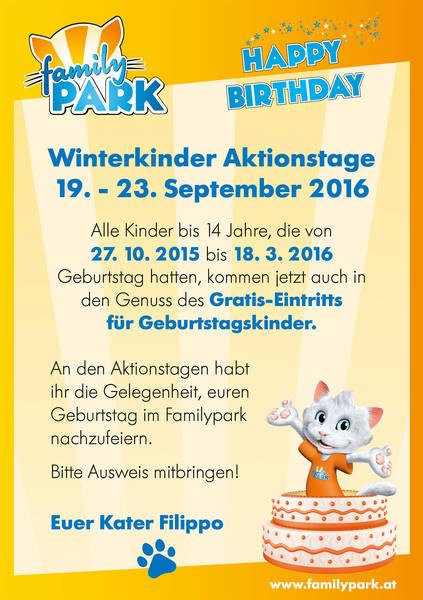 Winterkinder Flyer Familypark 2016