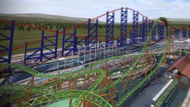 Blackpool Pleasure Beach 2018 - Mack Launch Coaster - Looping Render
