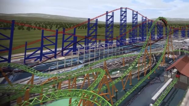Blackpool Pleasure Beach 2018 - Mack Launch Coaster - Looping Render