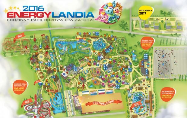 EnergyLandia Parkplan mit Neuheiten 2017