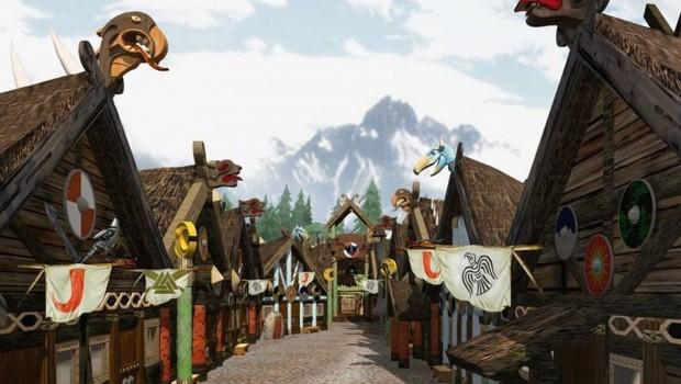 Energylandia Wikinger-Dorf Render