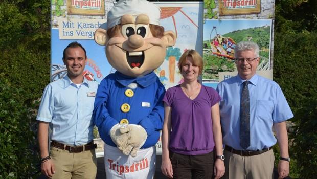 Erlebnispark Tripsdrill-Maskottchen bei Helfen Macht Freude 2016