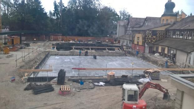 Europa-Park Baustelle Rathaus im September 2016