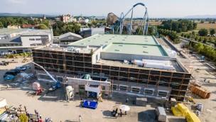 Europa-Park Logistikzentrum zum Richtfest 2016