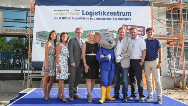 Mack beim Richtfest für neues Europa-Park Logistikzentrum 2016