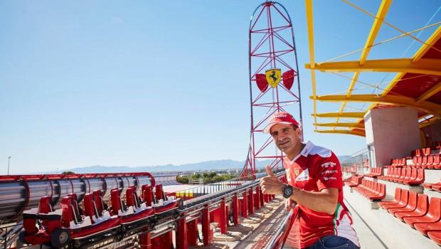 Ferrari Land Achterbahn PortAventura - Zug-Enthüllung