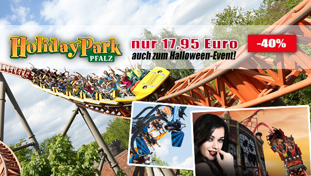 Günstige Holiday Park-Tickets - Rabatt zu Halloween 2016