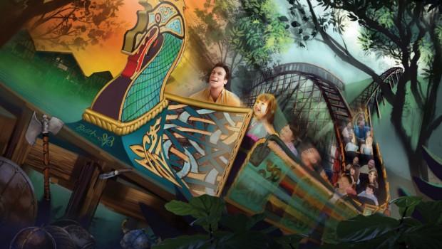 InvadR Busch Gardens Williamsburg Zug Artwork