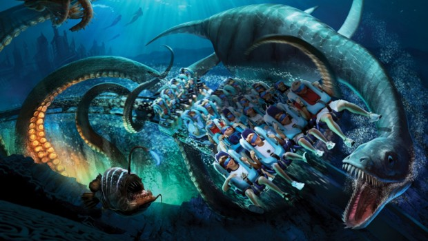 Kraken VR-Coaster SeaWorld Orlando Artwork