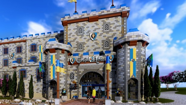 LEGOLAND California Castle Hotel 2018 Eingang Artwork