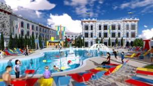 LEGOLAND California Castle Hotel 2018 Pool Artwork