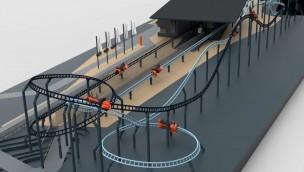 Maurer Spike Racing Duelling Coaster - Modell