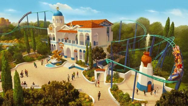 Parc Astérix - Pegase Express Artwork