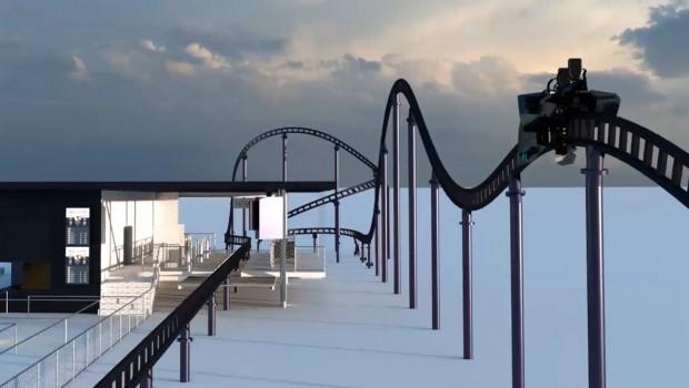 Sky Dragster Animation - Camelback - Skyline Park