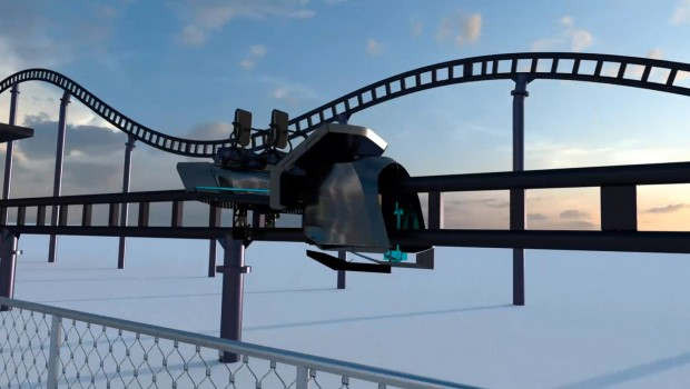 Skyline Park Sky Dragster Strecke-Animation