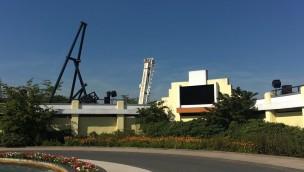 Star Trek Achterbahn im Movie Park 2017 - Baustelle am Eingang im September
