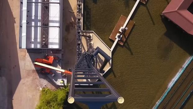 Twisted Halfpipe, Movie Park Germany - Luftaufnahme