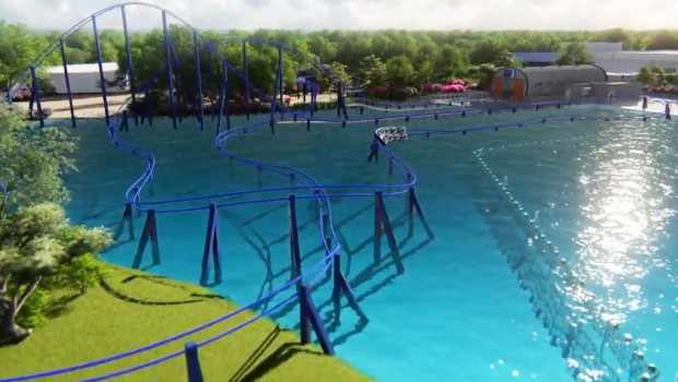 Wave Breaker Rescue Coaster - SeaWorld San Antonio 2017 Render