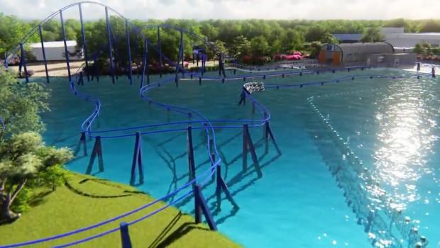 Wave Breaker Rescue Coaster - SeaWorld San Antonio 2017 Render