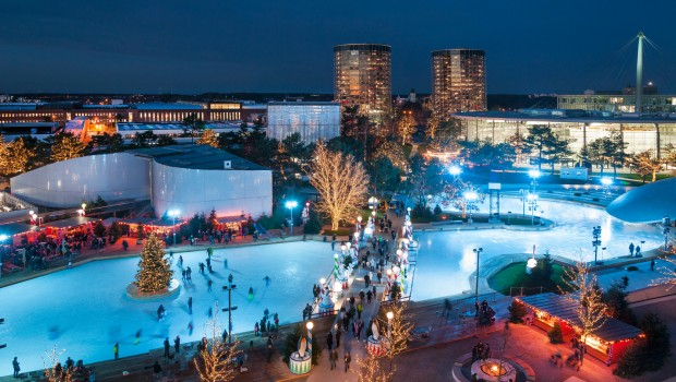 Autostadt Wolfsburg im Winter