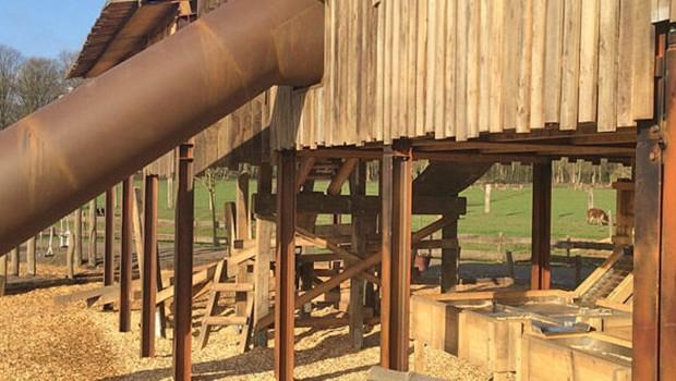 Canadian Beaver Mill - Goldwaschanlage - Wildpark Frankenhof