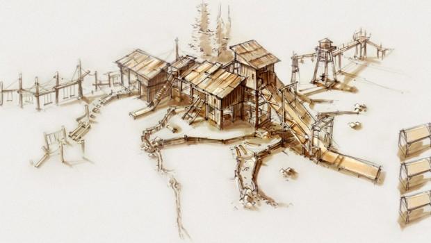 Canadian Beaver Mill im Wildpark Frankenhof - Konzeptzeichnung