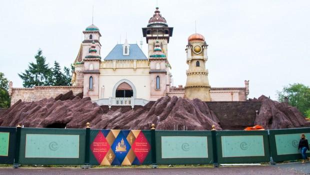 Efteling Symbolica Fassade Baustellenbilder - Oktober 2016
