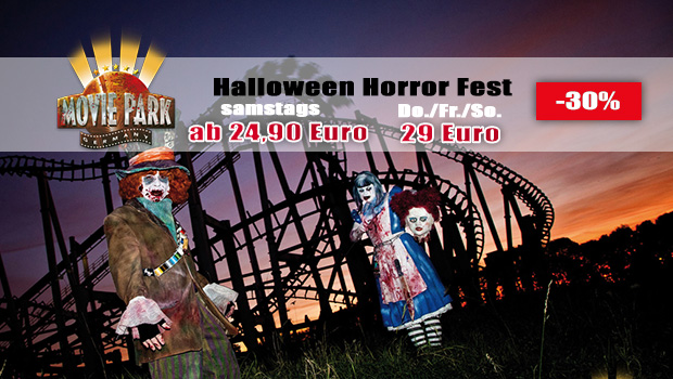 Halloween Horror Fest Tickets Gutschein 2016 - Movie Park