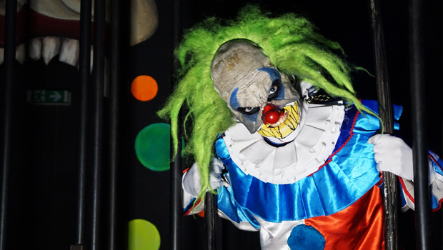 Horror-Clown im Grusellabyrinth NRW