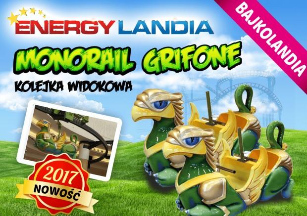 """Monorail Grifone"" neu 2017 in EnergyLandia"